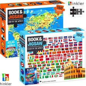 HINKLER 150pcs Jigsaw Puzzle + Book Set Board Games Educational Kit Adult Kids