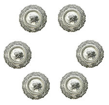 Conchos Lot Of 6 Shiny Silver Center Rope Western Rodeo Leather Craft 1-1/2 ""