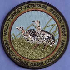 """Pa Pennsylvania Game Commission Wild Turkey Heritage Series 2009 4"""" Poult Patch"""