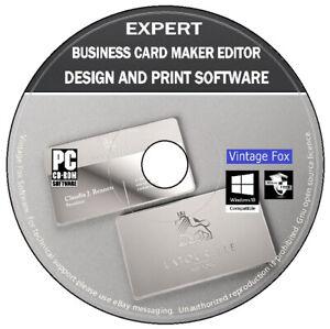 Expert Business Card Maker Pro Creator Editor - Design & Print Software PC DVD
