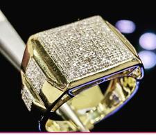 14K Yellow Gold Finish Diamond Men's Pinky Engagement Wedding Ring Band 2.00 Ct