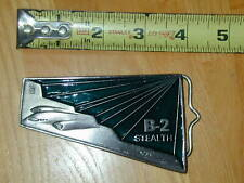 Belt Buckle B-2 Stealth Bomber Airplane USAF Air Force