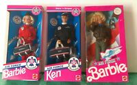Lot of 3 Air Force BARBIE AND KEN DOLLS 1990s Special edition Thunderbirds