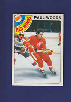 Paul Woods RC 1978-79 O-PEE-CHEE OPC Hockey #159 (NM) Detroit Red Wings