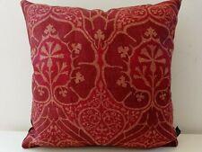 William Morris & Co VOYSEY Red Linen & Cardinal Velvet Cushion Cover Arts