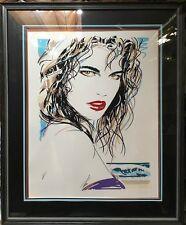 """Dennis Mukai 1988 Pop Art """"SUMMER""""  Signed Serigraph Framed Art Print 242/390"""