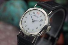 WWI Era ROLEX Sterling .925 Hand Wind Porcelain Dial 27mm Women's Dress Watch