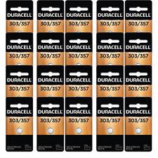 20 Pcs Duracell 357 303 A76 PX76 SR44W/SW LR44 AG13 Silver Oxide Battery