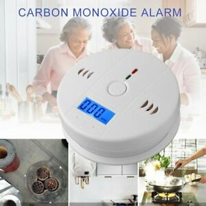 Smoke Detector Alarm LCD Combination CO Carbon Monoxide Gas Battery Warning ho03