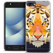 """Coque Housse Etui Pour Asus Zenfone 4 MAX ZC520KL (5.2"""") Polygon Animal Souple F"""