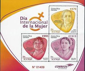 COSTA RICA DÍA INTERNACIONAL de la MUJER, WOMEN'S DAY MNH 2021 NEW