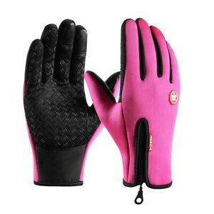 Men's and women's outdoor anti-skid touch screen autumn and winter gloves