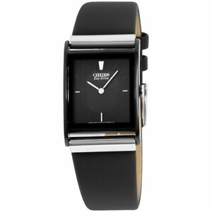 Citizen Eco-Drive Stainless Steel Leather Band Men's Watch - BL6005-01E