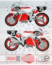 #25 1985 DECAL for FUJIMI 1/12 YAMAHA FZR750