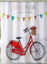 Amsterdam Bicycle Festival Red Bike With Basket Bathroom Shower Curtain Hooks