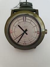 Unisex Armbanduhr grün Alugehäuse Lederarmband 48-S9627DGR-SL 49,95€ UVP