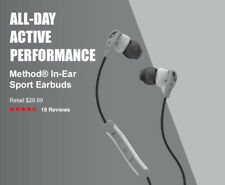 New Skullcandy Method Sport In-Ear Earbud/Headphone In-Line Mic/Remote Headset
