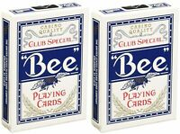 2 Decks Bee Standard Index Blue Poker Playing Cards Club Special Magic Tricks