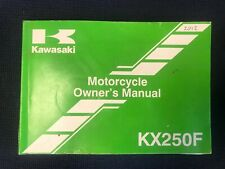 Kawasaki KXF250 Genuine Owners Service Manual Handbook 2012