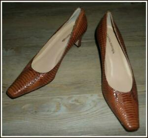 NEW VINTAGE FILIPPO RAPHAEL real SNAKESKIN python HEELS 7 SHOES COURTS PUMPS
