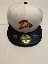 New Era Danville Braves Cap Hat Size 7 5/8 MiLB 59fifty White/Red Men's