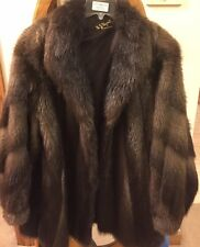 Gorgeous Womens Real Beaver Fur Coat - Size 12/14 (makes a perfect gift)