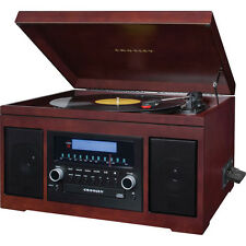 Crosley Cannon Sound System with Turntable, CD Player/Recorder, AM/FM Radio, and