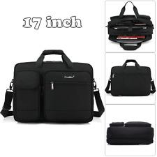 17'' Men Black Laptop Bag Business Briefcase Messenger Satchel Work Office Bag