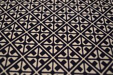 Japanese Cotton Fabric White and Blue Repetitive Geometric Design 1300