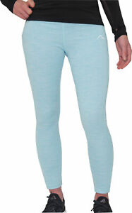 More Mile Heather Girls Long Running Tights - Blue
