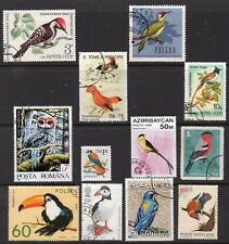 Asia: A Fantastic & Colourful Selection of 12-Bird-Issues From 10 Countries