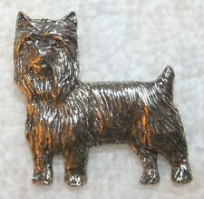 Yorkshire Terrier Yorkie Puppy Cut Dog Fine PEWTER PIN Jewelry Art USA Made