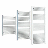 Ladder Towel Radiator Heated Rail Straight Chrome or White Bathroom Radiators