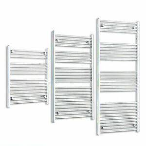 Ladder Towel Radiator Heated Rail Straight Chrome or White Bathroom Radiators