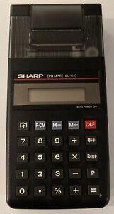 Sharp ELSI MATE EL-1610 Printing Calculator w/Manual  **Tested Working**