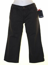 Bnwt Women's Oakley 3/4 Cropped Denim Capri Pants Jeans W26 UK8 Slim Fit Black