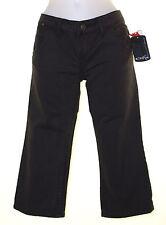 Bnwt Women's Oakley 3/4 Cropped Denim Capri Pants Jeans W26 UK8 Slim Fit Black