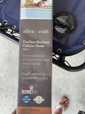 allen and roth cordless blackout cellular shade , white , brand new in the box