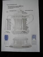 1970-71 Huddersfield Town v Birmingham City FA Cup 3rd Round Matchsheet