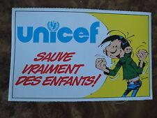 André Franquin - Gaston Lagaffe N° 0 - Autocollant UNICEF - Dupuis