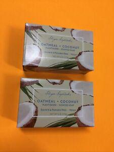 Lot of 2 Shugar Soapworks Oatmeal Coconut Vegan Plant Base Soap 6.25oz New 🌈🌹