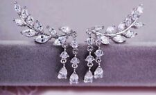Luxury Boutique Drop Earrings New Uk Silver Crystal Crawler Boho Festival Party