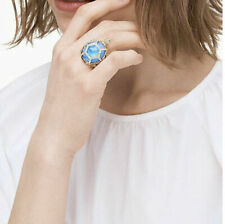 Kate Spade Sz 8 Paradise Found Mother Pearl Gold Plate Turtle Ring Blue