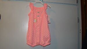 BABY SNAP-UP ROMPER BY CARTER SIZE:  6M NEW WITH TAGS