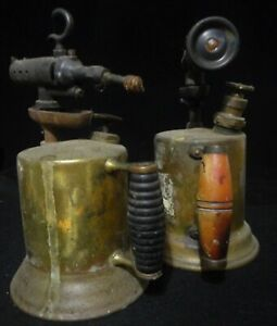 """Pair of Vintage Antique Welding Plumbing  Gas Blow Torch """"AS IS"""" No.: 701"""