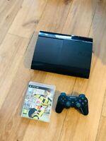Console Ps3 Playstation 3 Ultra Slim 500 Go En Bon Etat Avec Manette Jeu
