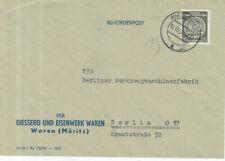 DDR Brief ( Dienst - VEB ) Waren 16.10.1957