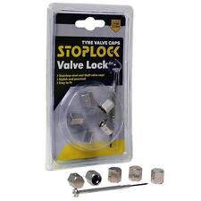 Original Stoplock Antirrobo Bloqueo De Aleación Polvo Tapas De La Válvula (DC1) MC17/5