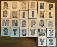 Rubber Stamp Lot Alphabet 67 total stamps Numbers  Letters