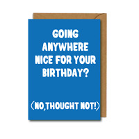 FUNNY Birthday Card For Men & Women LOCKDOWN Design